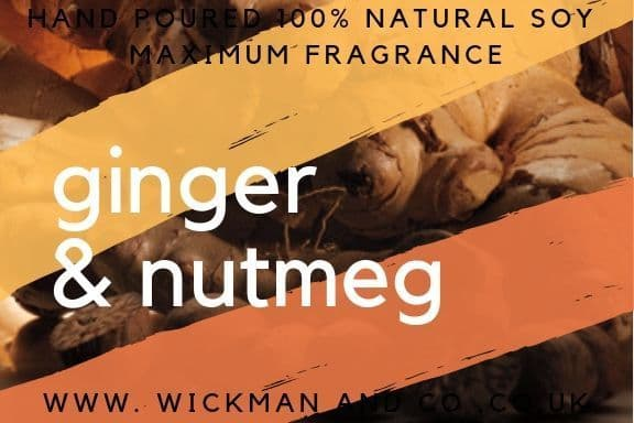 Ginger & Nutmeg Soy Wax Candle